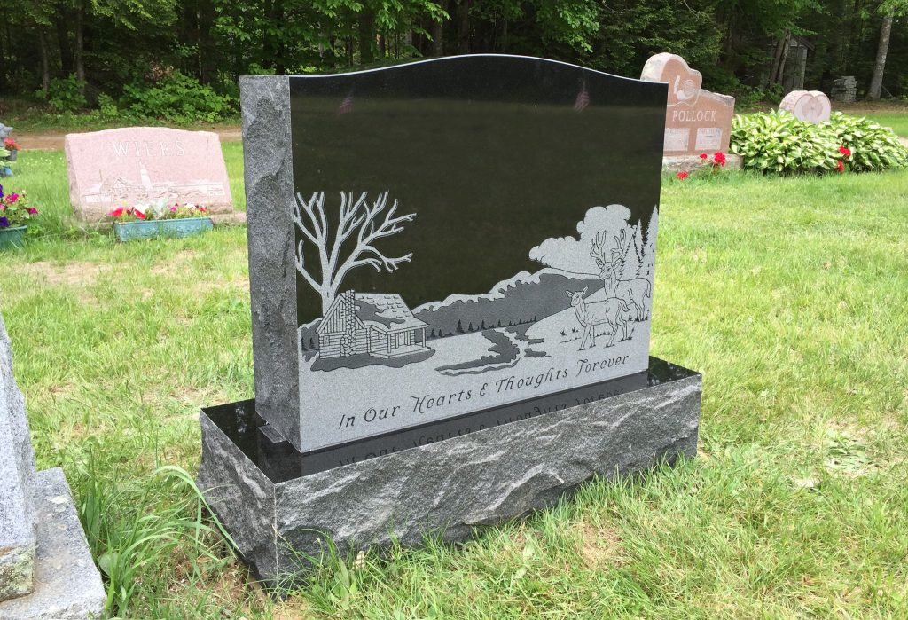 Black Headstone by Collette Monuments