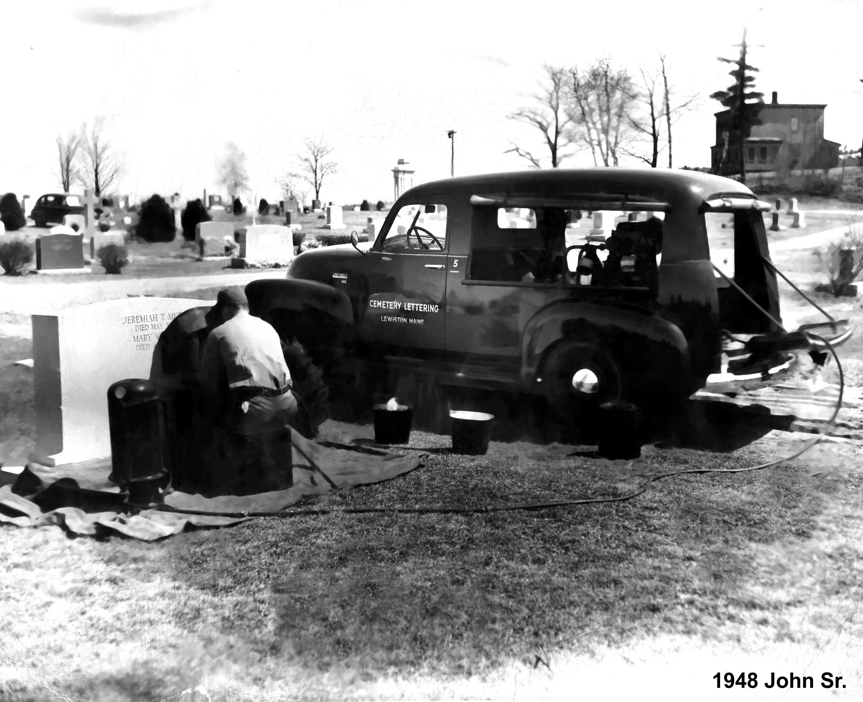 1948 Monument John Sheehe Collette Monuments Sandblast lettering