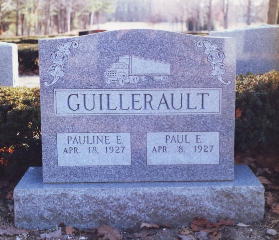 Barre Gray Granite : Family headstone collette monuments