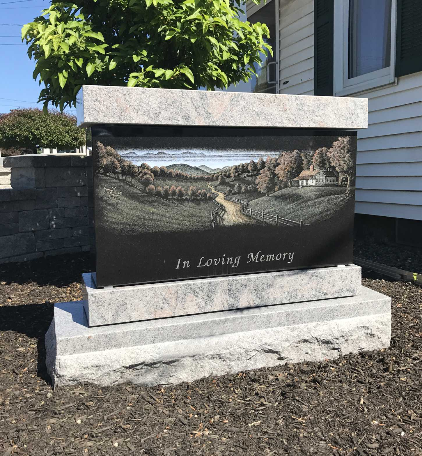 Color Etching Memorial by Collette Monuments Inc