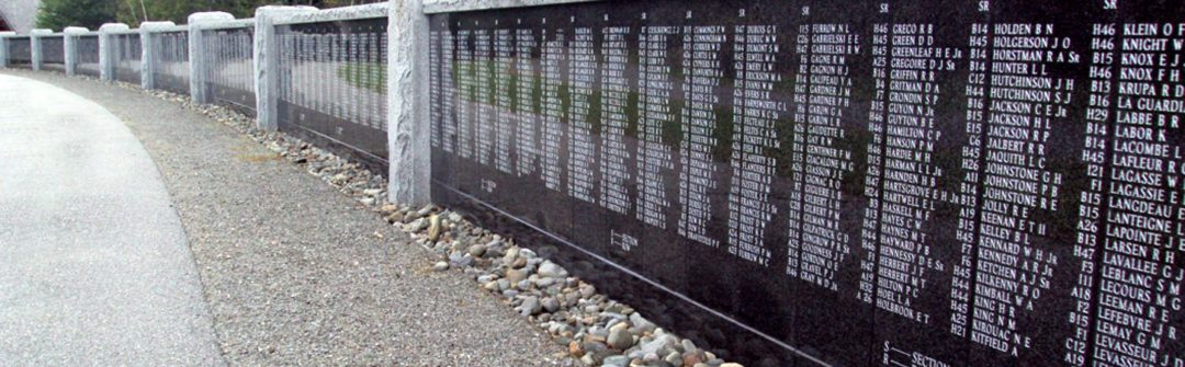 Veterans Memorial Wall in Augusta Maine